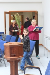 ... as we enter the sanctuary, singing praise